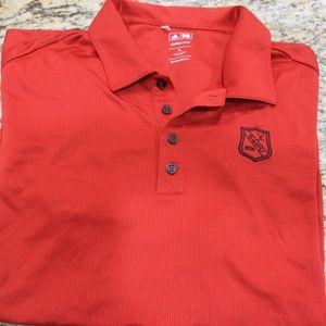 ADIDAS ClimaCool Red Polo Golf Shirt Mens XL